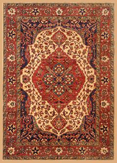 centraal medaillon-tweedehands Perzisch tapijt